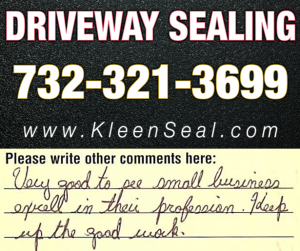 Kleen Seal Reviews Driveway Sealing Berkeley Heights 07922