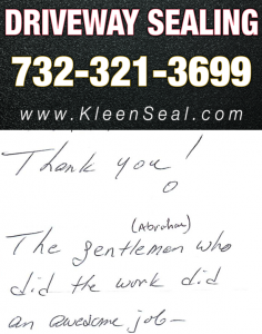 Kleen Seal Reviews Driveway Sealing Dayton 08810