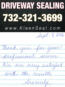 Kleen Seal Reviews Driveway Sealing Dunellen 08812