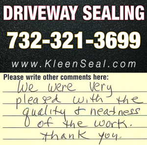 Kleen Seal Reviews Driveway Sealing Roselle Park 07204