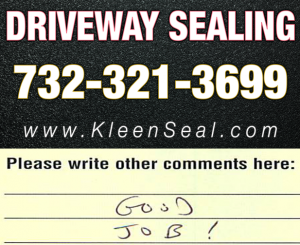 Kleen Seal Reviews Driveway Sealing South Amboy 08879