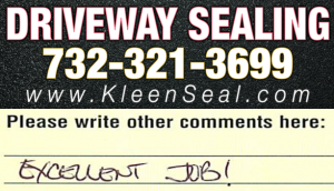 Kleen Seal Reviews Driveway Sealing Summit 07902