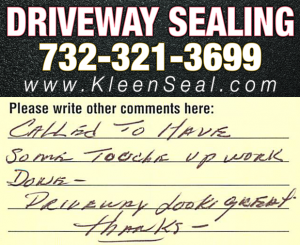 Kleen Seal Reviews Sealcoating Avenel 07001