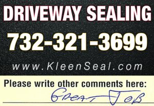Kleen Seal Reviews Sealcoating Edison 08837