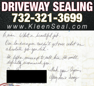 Kleen Seal Reviews Sealcoating Fords 08863