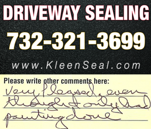 Kleen Seal Reviews Sealcoating Kendall Park 08824