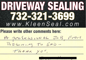Kleen Seal Reviews Sealcoating Mountainside 07092