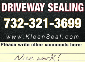 Kleen Seal Reviews Sealcoating Old Bridge 08857