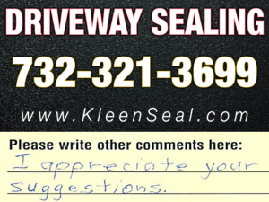 Kleen Seal Reviews Sealcoating Port Reading 07064