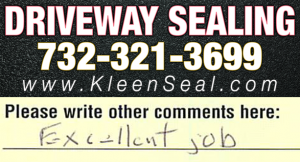 Kleen Seal Reviews Sealcoating South Plainfield 07080
