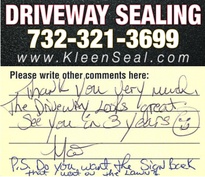 Kleen Seal Reviews Sealcoating South River 08882
